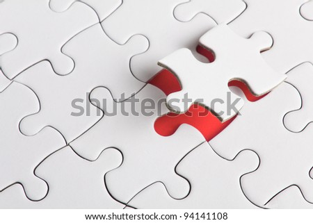 a puzzle with missing parts