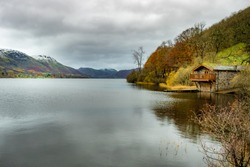 A quiet boathouse on Coniston Water