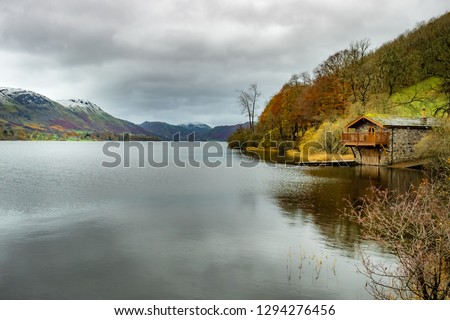 A quiet boathouse on Coniston Water #1294276456