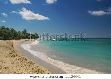 a quiet stretch of beach in the parish of St James in Barbados