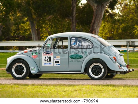 A Racing VW Beetle parked near Victoria Park racecourse, Adelaide