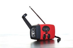 A radio is essential to receive emergency information. Any hand-cranked or battery-operated radio can provide important information on weather or evacuation alerts. It can also operate as a flashlight