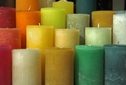 A Rainbow of Candles