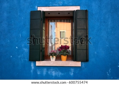 A random window with flowers #600755474