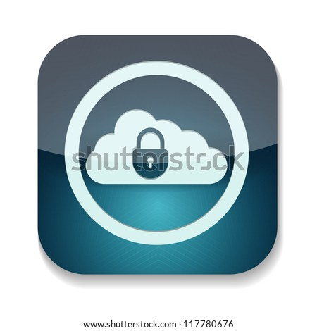 a raster version of creative blue icon - stock photo