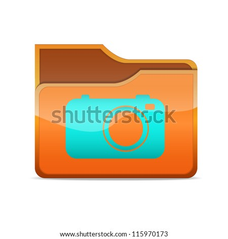 a raster version of creative folder icon