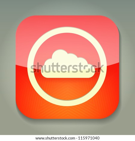 a raster version of creative red icon - stock photo