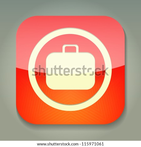 a raster version of creative red icon