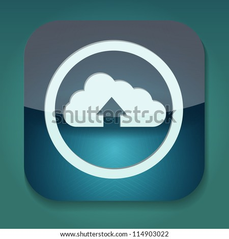 a raster version of upload icon with cloud