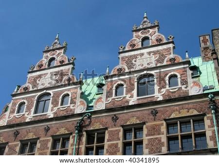A real cool looking building in downtown Copenhagen, Denmark.