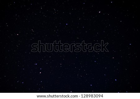 A Real Dark Night Sky With Plenty Of Stars