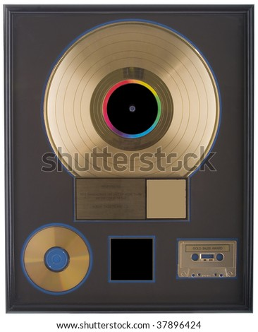 A real gold record with the spaces left bank for you to fill in