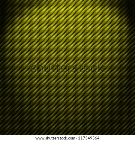 A realistic green carbon fiber weave background or texture