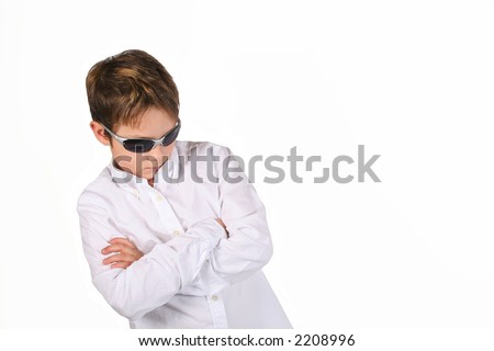 a really cool boy with shades and an attitude