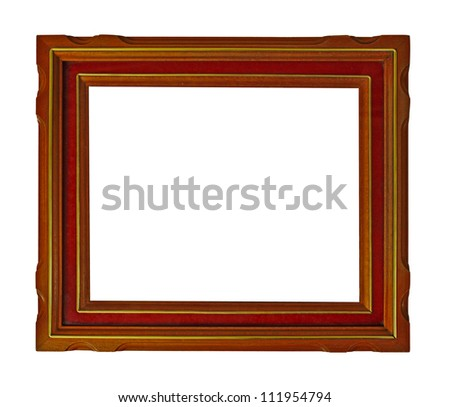 A rectangular wooden picture frame
