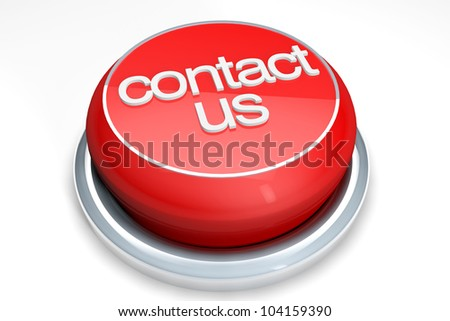 A red button with the Contact Us word on a white background