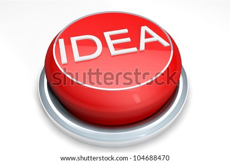 A red button with the Idea word on a white background