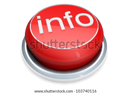 A red button with the Info word on a white background