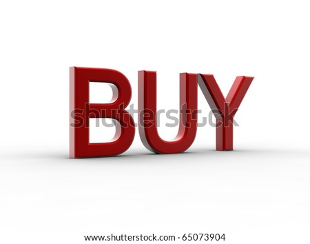 A red buy isolated on a white background - stock photo