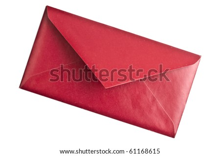 A red envelope isolated on white background