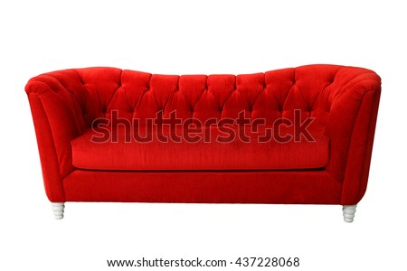 A red furniture isolated with clipping path  #437228068