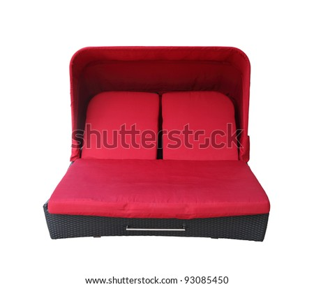 A red furniture isolated with clipping path