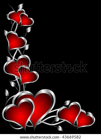 hearts valentines. red hearts Valentines Day
