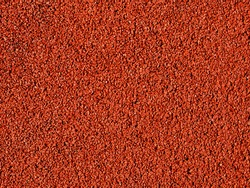 A red macadam pavement texture