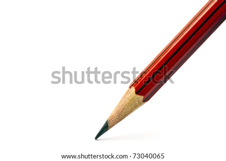 A red pencil isolated on white background
