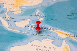 A Red Pin on Timor-Leste of the World Map