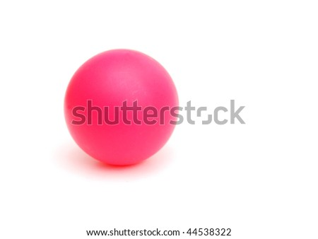 a red ping pong