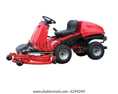 A red Ride-On Mower