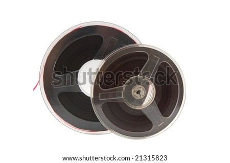 A reel of quarter-inch analogue recording tape