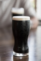 A refreshing glass of cold stout