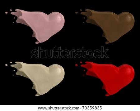 A render of a molten flavored hearts