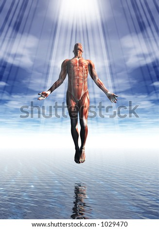 A rendering of a spiritual pose