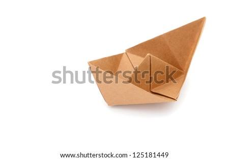 A renewable paper boat