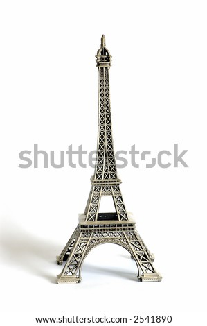 A replica of Eiffel tower isolated against #2541890