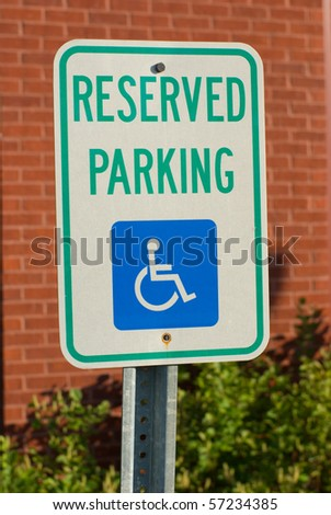 A reserved parking sign