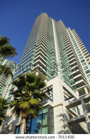 A residential tower near waterfront in San Diego