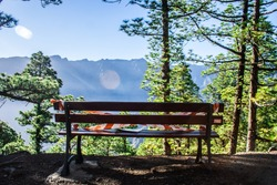 A resting place with restrictions by Covid19 inside the National Park. La Palma.