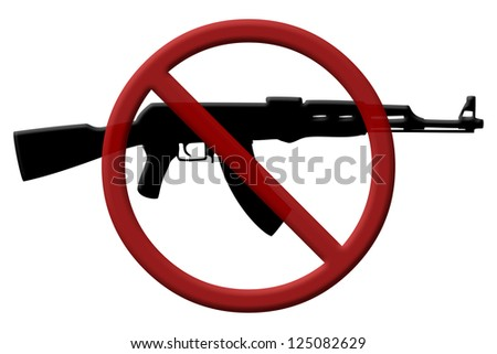 A rifle and a Not Allowed Symbol, Ban on assault rifles