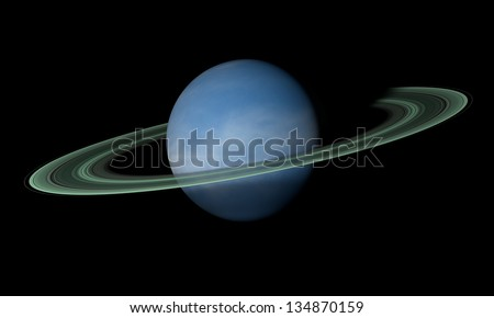 A ringed planet beyond our solar system Isolated on black Elements of this image furnished by NASA
