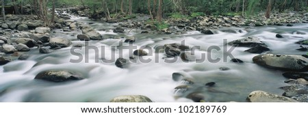 A river or stream in Tennessee - stock photo