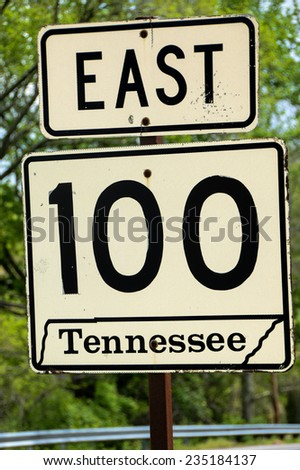 A road sign outside of Nashville Tennessee #235184137