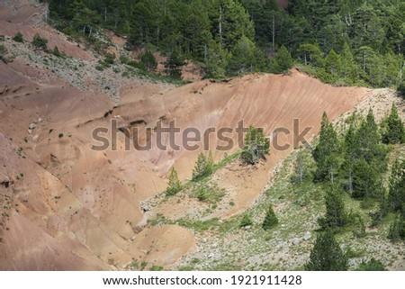 A rocky landscape in the Cadi-Moixero Natural Park, Spain Zdjęcia stock ©