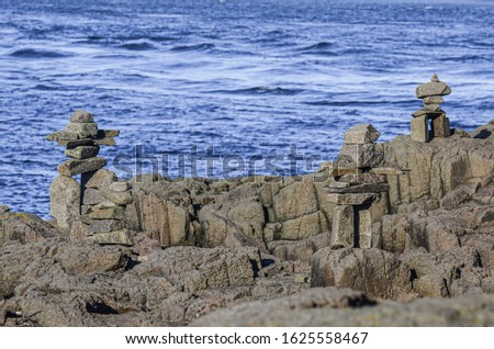 A Rocky Shoreline along the Bay of Fundy, Nova Scotia Canada