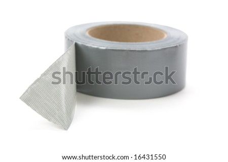 a roll of Grey Duct Tape with white background