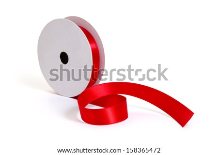 a roll of red ribbon stock photo 158365472 shutterstock