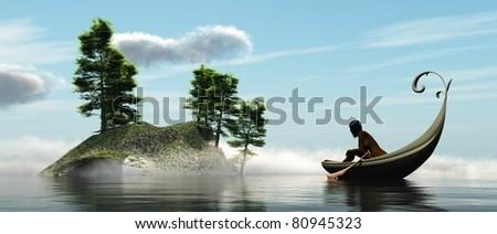 A romantic boat trip